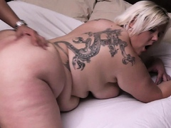 Fuck date with hot blonde bbw