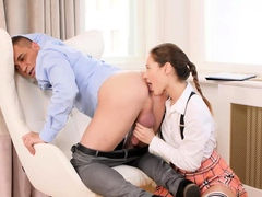 RIM4K. Teen is a bad wife but she knows how to give rimming