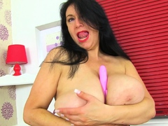 Uk Mature Sabrina Gets Bored Working From Home
