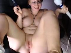 Webcams 2014 - BBW Busty Nerdy MILF with Hitachi