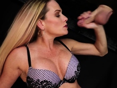 Erotic Massage Milf Jerking While In Lingerie