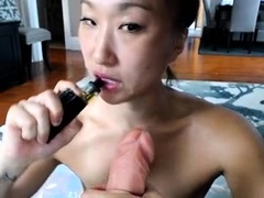 Mature asians up close toy and fingering masturbation action