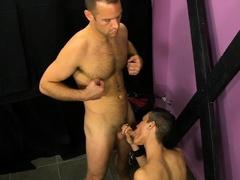 Daddy Tucker Mckline makes Austin Tyler cum during anal