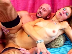 rough-sex-for-slim-ginger-granny-by-huge-cock-young-guy