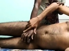 Poor Maid Gives Handjob To Her Boss