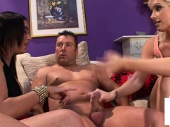 Busty UK femdom and babe humiliate tiny dick bf