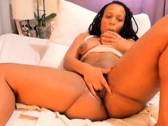 I'm a plump, adventurous black beauty who squirts for you