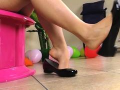 Hot girls ballet flats shoeplay
