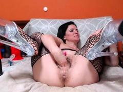 kinky beauty masturbating on webcam close up