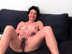 monster titted granny renata works her hairy old cunt