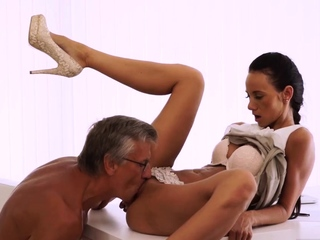 Your pussy daddy and old bondage xxx Finally she's got