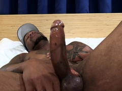 Sexy Black Guy takes his time working a load