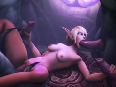 Video Games 3D Babes with Young Body Gets a Huge Cock