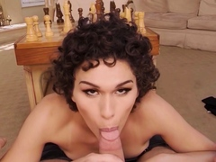 VRBTrans Better Fuck Than Play Chess With Hot Skinny Alisia