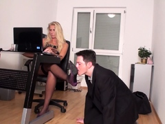 office shoe licking