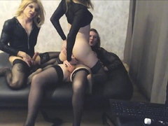 3 dazzling shemales fuck their brains out on webcam