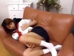 18 Years Old Mongolian Girl On The Sofa
