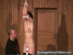 Kinky Brunette End Up Tied In Ropes Part5