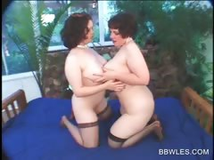 Bbw Lesbo In Stockings Gets Pussy Licked In Close up