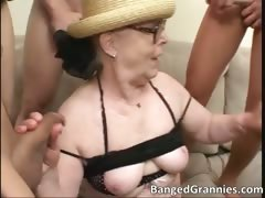 Nasty Big Boobed Brunette Slut Sucking Part2