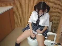 Cute Japanese Schoolgirl Masturbating Part2
